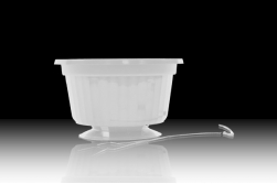 "10"" POP Basket - White w/ Wire Hanger"