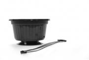 "10"" POP Basket - Black w/ Plastic Hanger"