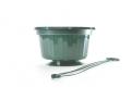 "10"" POP Basket - Green w/ Plastic Hanger"