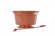 "10"" POP Basket - Terra Cotta w/ Plastic Hanger"