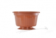 "10"" POP Basket - Terra Cotta w/ Wire Hanger"