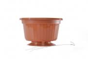 """10"""" POP Basket - Terra Cotta w/ Wire Hanger"""