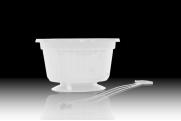 """10"""" POP Basket - White w/ Plastic Hanger"""