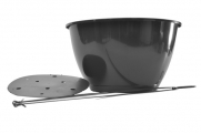 "14"" Saucerless Hanging Basket - Black w/ Wire Hanger"
