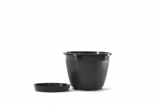 "6"" Lattice Basket - Black"