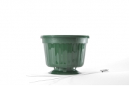 "8"" POP Basket - Green w/ Wire Hanger"