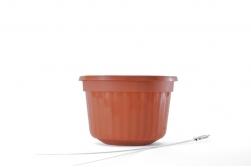 """8"""" POP Basket - Terra Cotta w/ Wire Hanger"""